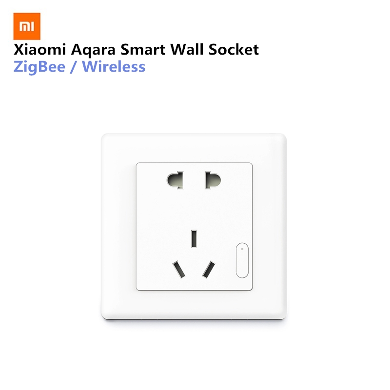Xiaomi Aqara Smart toma inalámbrica ZigBee Mijia pared interruptor de trabajo para Xiaomi Smart Home Kits APP