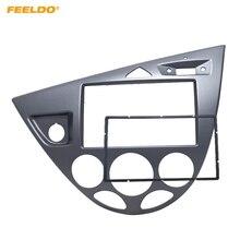 FEELDO серый автомобиль 2DIN стерео Панель Fascia радио и установка тире отделка комплект для Ford Focus 98 ~ 04 (LHD) /Fiesta 95-01 (LHD) # AM5054