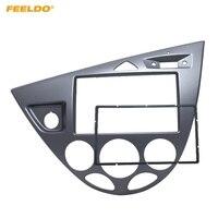 FEELDO Gray Car 2DIN Stereo Panel Fascia Radio Refitting Dash Trim Kit For Ford Focus 98