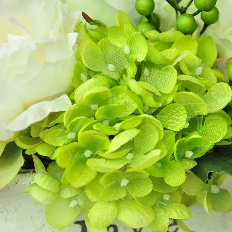 Freshing Green Artificial Hydrangea Berries Vase 5