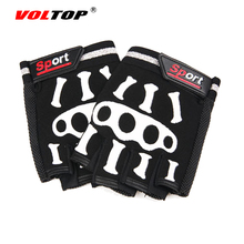VOLTOP Cool Bone Shelf Glove Motorcycle Bicycle Gloves Half Finger Skeleton Breathable Gloves Trend Riding Outdoor Sports
