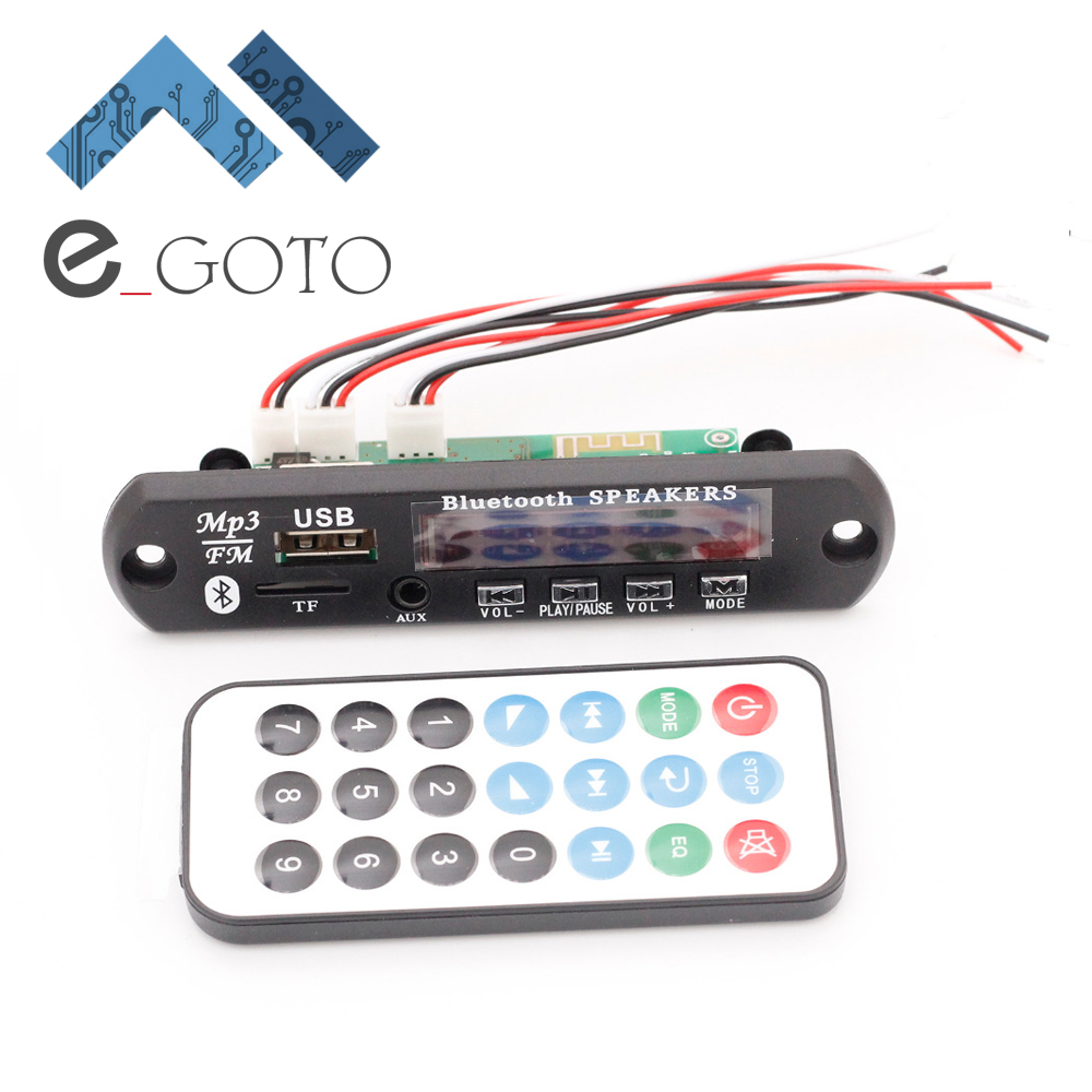 12V Memory Bluetooth MP3 Decoding Board FALC WAV WMA APE Audio Amplifier Receiver Decoder Player Module + Wire Remote Controller