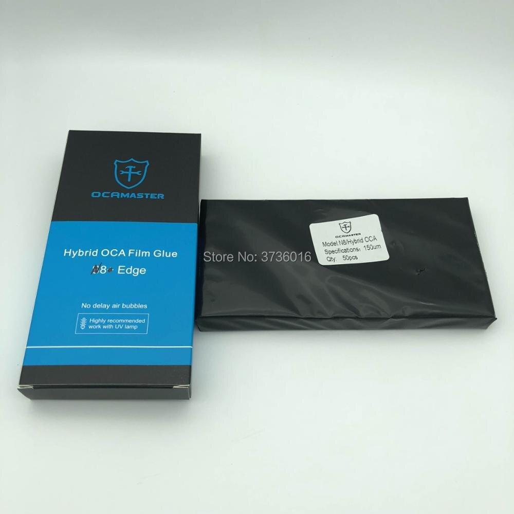 OCA Master OCA Otticamente Trasparente Adesivo per Samsung Nota 8 150UM fuori cornice OCA film lcd di riparazione dello schermo di laminazione, completamente rinnovato,