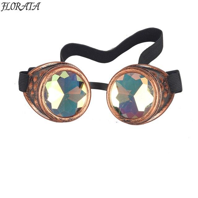 Nova Moda Do Vintage Óculos Steampunk Óculos Óculos de Solda Óculos de Cyber  Punk Gótico Cosplay 41dcf92e75