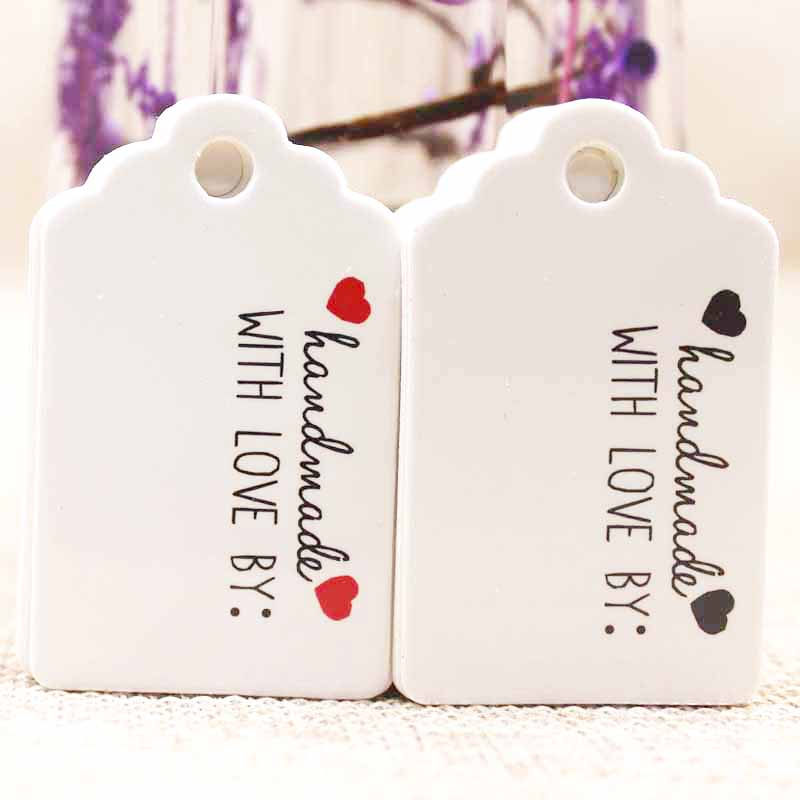 1000pcs Tag 2018 New Style Paper Gift Tag White/kraft Cardboard Jewelry Label Tag For Gift /wedding Favors Products Note Tag