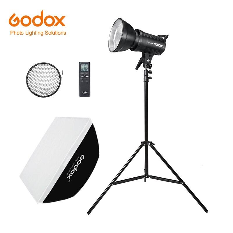 Godox LED Video Light SL 60W 5600K White Version Video Light Continuous Light Kit 190cm Light