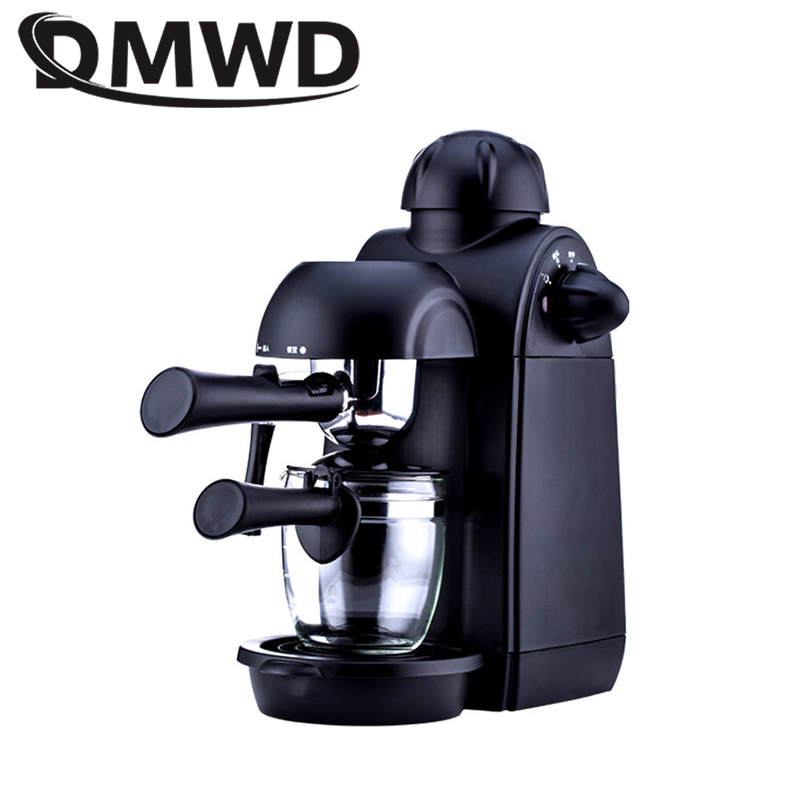 DMWD Household cafe American electric Italian Coffee Maker semi automatic espresso coffee machine pot Cup home office 5 bar EU