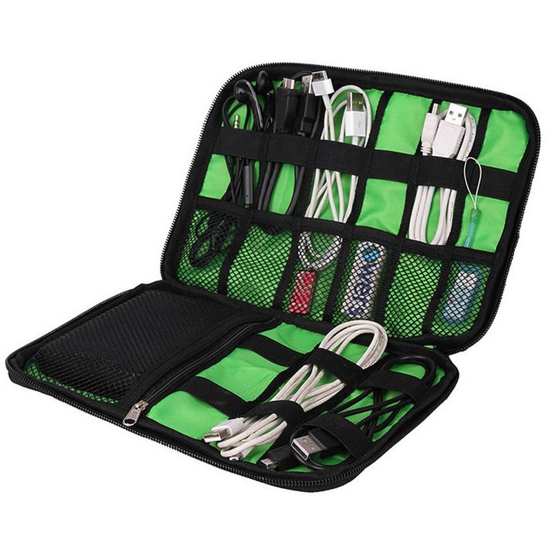 High Grade Nylon Waterproof Travel Electronics Accessories Organiser Bag Case for Chargers Cables etc,Accessories Bag коляска классическая vikalex grata 3 в 1 leather white vi73401