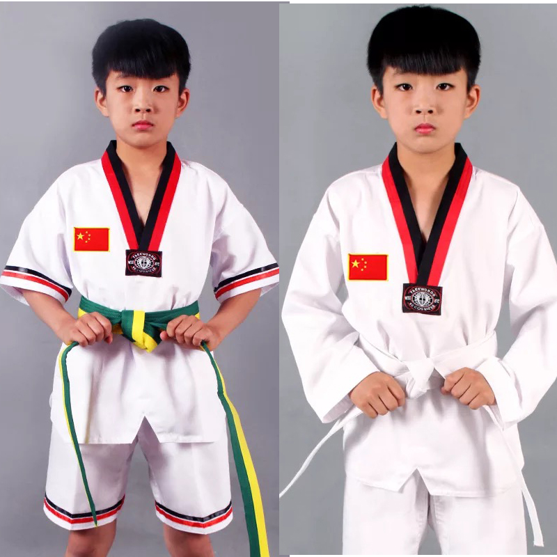 Judo Wushu TaiChi Uniform Costume Taichi Clothes Girls Woman Boys Chinese Traditional Tang Suit Clothes  Long Sleeve