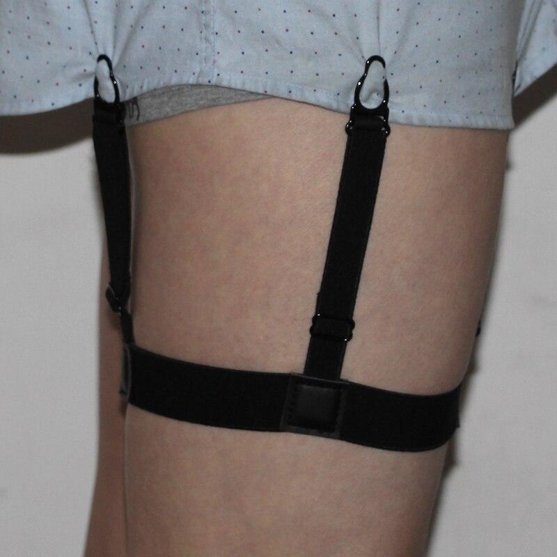 6964a16b9bc64 Mens camisa Mens ligas camisas de la Liga para caballero pierna cinturones elástico  camisa de los hombres se queda camisa titular Mens Braces en Hombres de ...