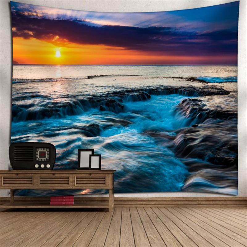 130x150/150x200 Cm Mare Spiaggia Stampato Grande Arazzo Appeso A Parete Tovagliolo Di Spiaggia Coperta Di Campeggio Tenda Sacco A Pelo Pad Complementi Arredo Casa Ad Ogni Costo