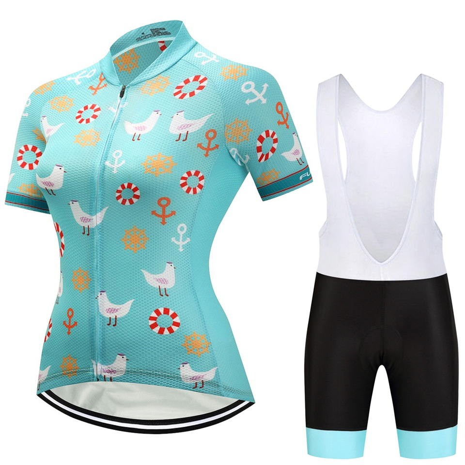 2018 Women Cycling Jersey Female Maillot Ciclismo Summer Outdoor Sportswear MTB Bike Jacket And Silica GEL Pad Shorts WM08
