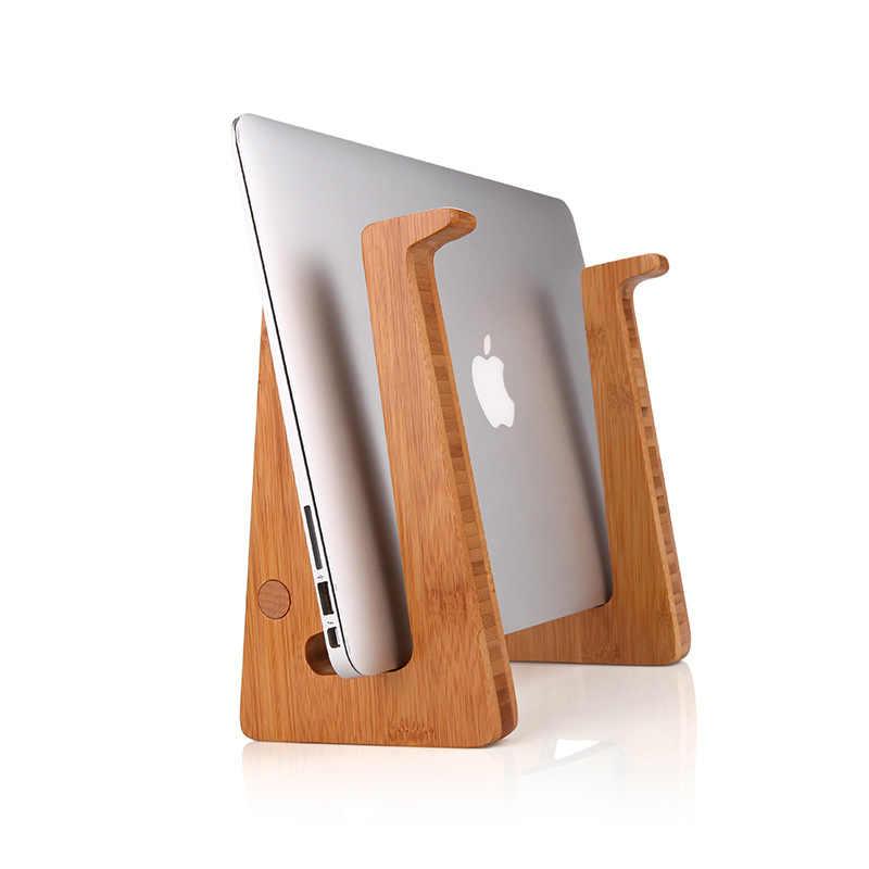 زيادة ارتفاع التبريد الخيزران محمول حامل للكمبيوتر الشخصي ل ماك بوك اير برو الشبكية العمودي قاعدة قوس ل 15 بوصة الكمبيوتر المحمول مريح