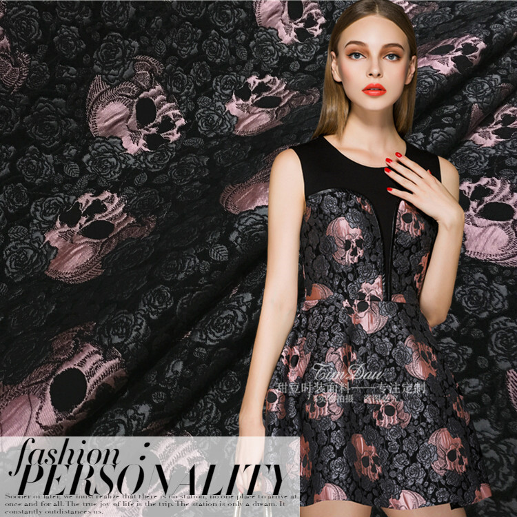 Rose Fashion Store Home: 2016 European And American Fashion Rose Skull Jacquard