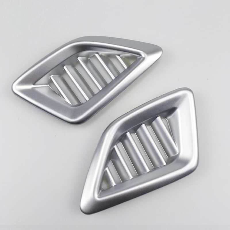 2PCS Matte ABS Chrome Car Front Air Conditioner Vent Outlet Cover Trim Moldings For <font><b>Honda</b></font> <font><b>Accord</b></font> <font><b>2018</b></font> Car Styling <font><b>Accessories</b></font> image