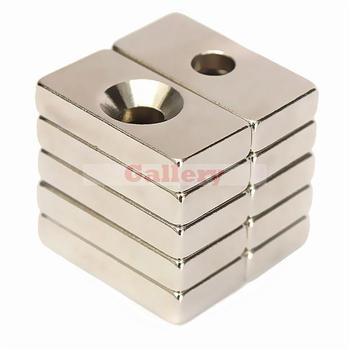 20 Pcs Lot N50 20x10x4mm 4mm otwór Super mocne magnesy blokowe neodymowe ziem rzadkich