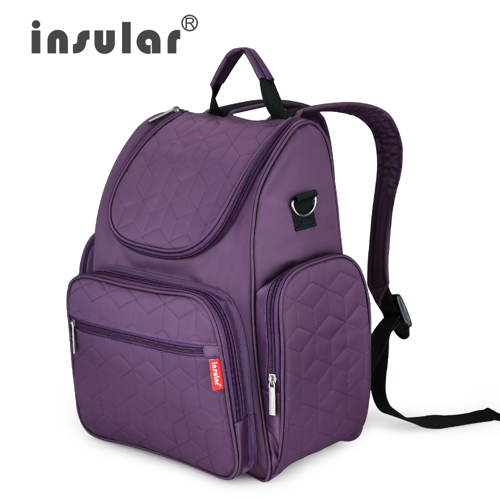 Image 5 - Insular Elegant Baby Diaper Backpack Nappy Stroller Bags Multifunctional Maternity Travel Changing Bag For Mommy Women Backpacks-in Diaper Bags from Mother & Kids