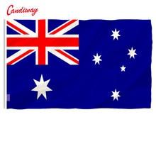 Candiway Австралийский баннер Австралийское украшение для дома с изображением флага Австралийский флаг 90x150 см