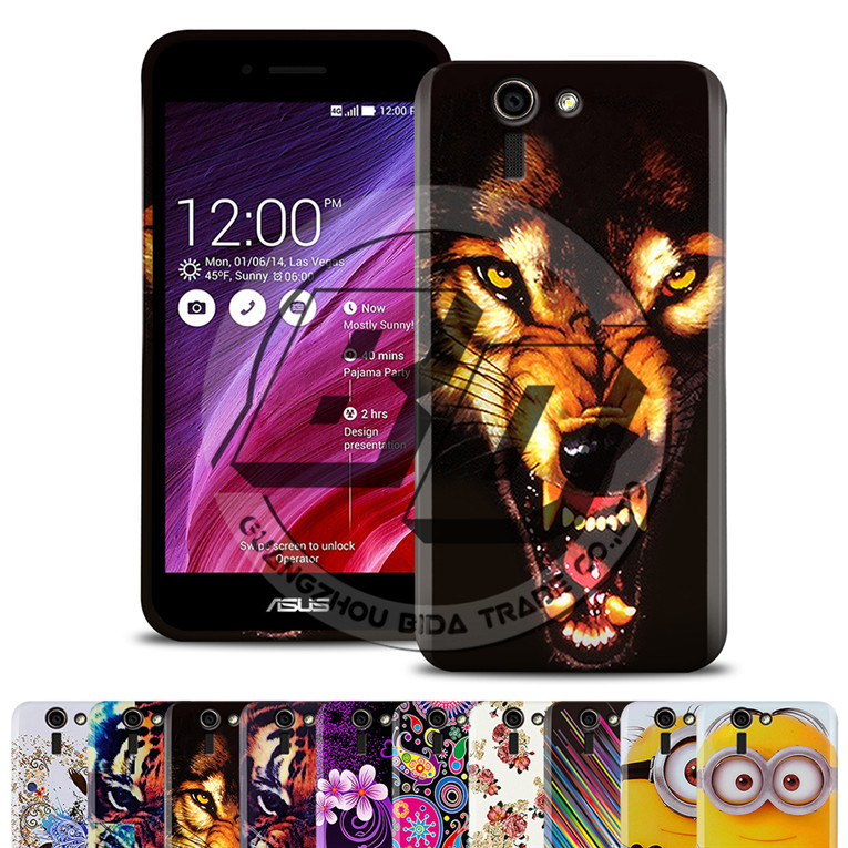 Original Fashion Tiger&Wolf&Flower Pattern TPU Soft Case For Asus Padfone S/X Case Cover For Asus Padfone S X Rubber Back + Gift