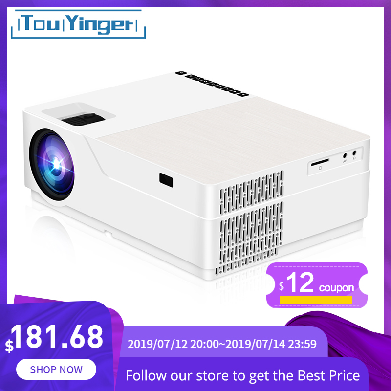 TouYinger M18 Projector 1080p Resolution 5500Lumen , Android AC3 Option , LED Video Projector Home Theater Full HD Movie Beamer(China)
