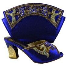 Italienischen Schuh Mit Passender Tasche Für Party Mode Frauen sandale Steine Qualität Afrikanischer Schuhe Und Taschen Zu Entsprechen 1308-L60