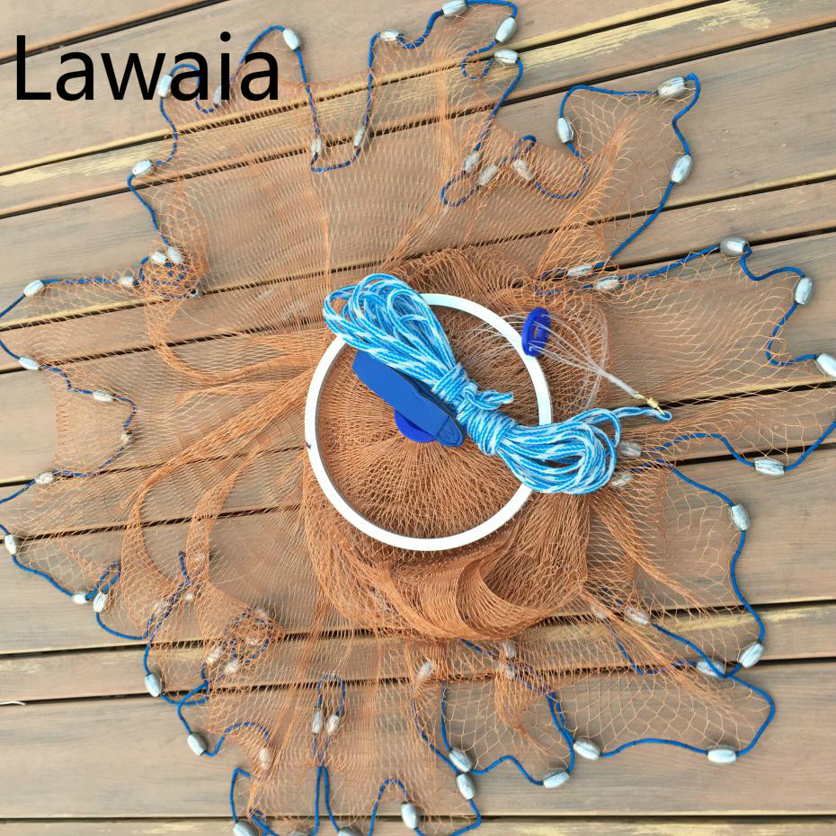 Lawaia american fishing net throw the tire line for Throw nets for fishing