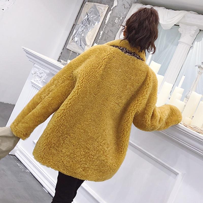 Lâche Manches 424 Manteau Printemps Femmes Unique Qualité Mode Poitrine Red yellow Automne Nouveau Fourrure Femelle white down Col Longues Turn De Haute C Fanx wI5xRtYIq