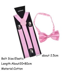Bow tie Suspender Set Adjustable Elastic Wedding Belt Strap Shirts Brace For Men Women
