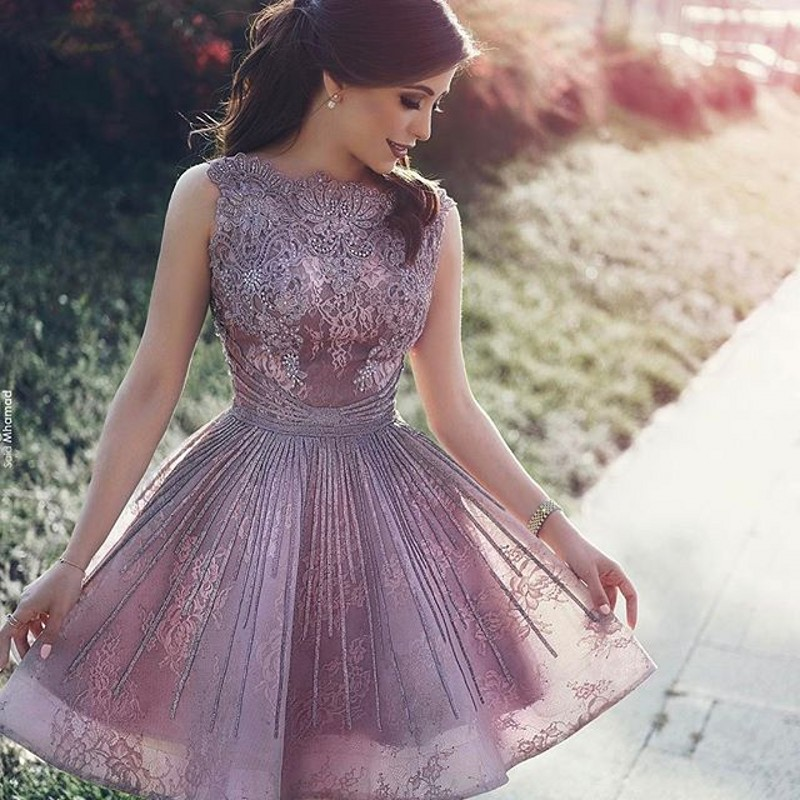 2017 Pretty Mini Lace Cocktail Dresses Junior High Graduation ...