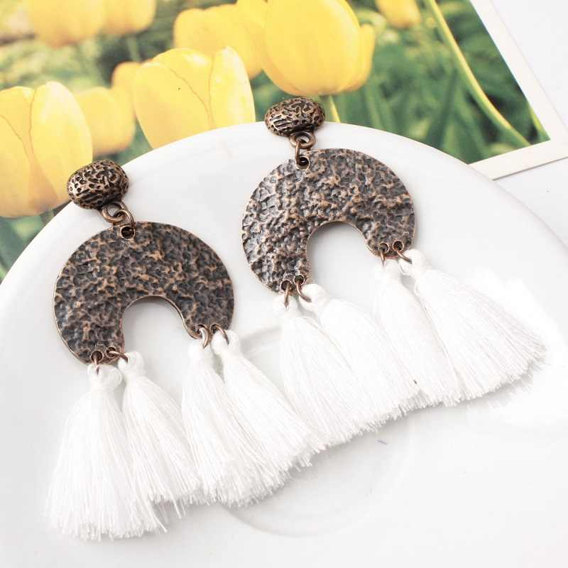 Naomy&ZP Brand Big Bohemian Earrings For Women Vintage Tassel Drop Earrings Long Boho Fringe Dangle Earrings Fashion Jewelry