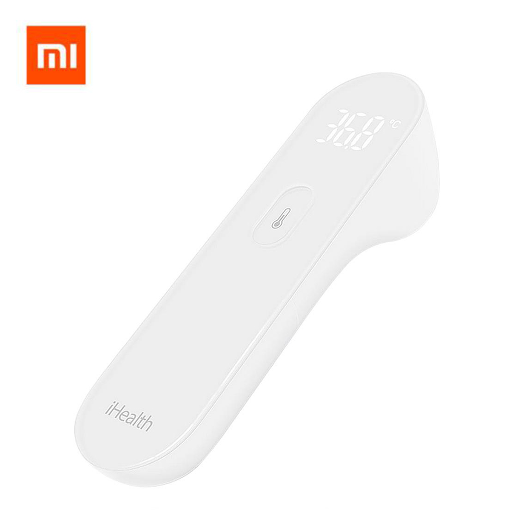 100% Original Xiaomi Mijia iHealth Thermometer Forehead Temperature Measuring 1 Second Response Non-Contact LED Display