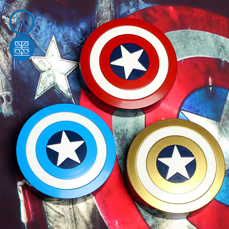 Hot Captain America Contact Lens Case With Mirror Contact Lenses Box Container For Lenses Birthday Gift For Girls and Boys