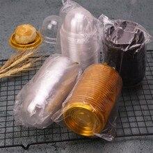 100 шт/50 компл. Прозрачная ПВХ коробка для кексов круглая Свадебная подарочная коробка с основанием внутри для подарочных коробок на свадебную вечеринку и упаковки еды