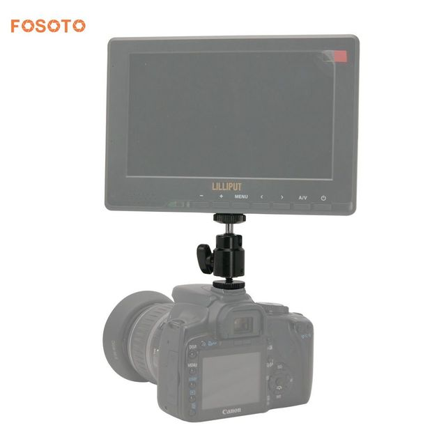 Fosoto New Adapter For Camera Tripod Led Ring Light Flash Bracket Holder Mount 1 4 Hot Shoe Cradle Ball Head With Lock