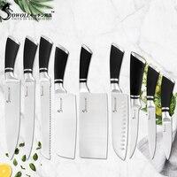 Sowoll японский, из нержавеющей стали набор кухонных ножей слайсер для шеф-повара разделка хлеба сантоку склеивание утилита фрукты домашнего ...