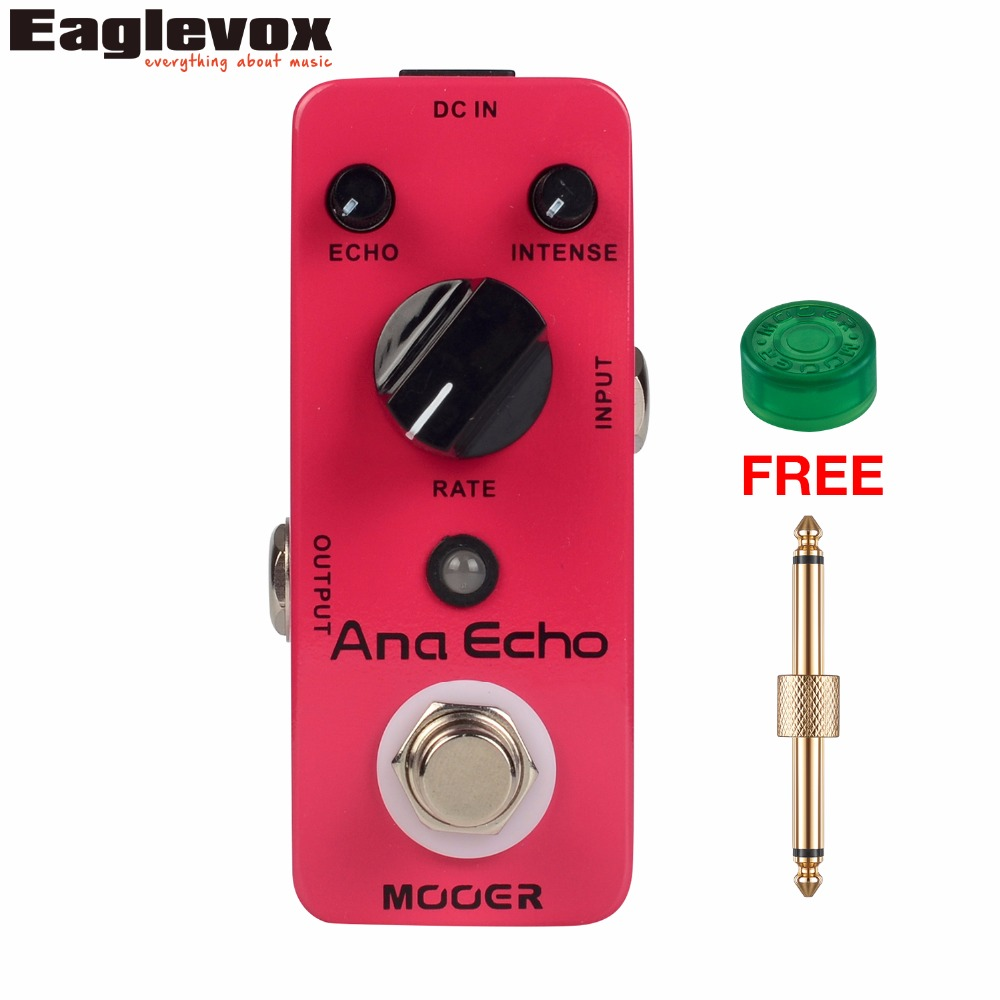 MOOER Ana Echo Delay Guitar Effect Pedal Mini Analog Effects True Bypass with Free Connector and Footswitch Topper стоимость