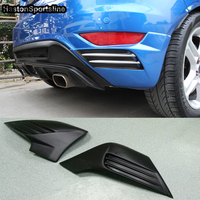 MK7 Auto Car Rear Body Kit Bumper Splitter for Ford Fiesta 2008 2012