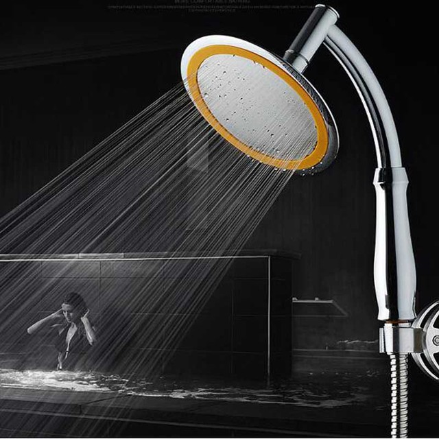 Warehouse Clearance 6 Inch Water Pressure Increased Rainfall Shower Head  ABS With Longer Handle Spa Shower