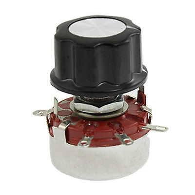 Variable Resistor 470K Ohm 2W Rotary Wirewound Pots Potentiometer w Knob WTH118 variable resistor wire wound rheostat 50w 20 ohm 20ohm