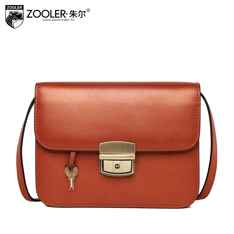 New elegant women messenger bag ZOOLER brand genuine leather bag lady cross body designed high quality chain shoulder bag #W-110 все цены