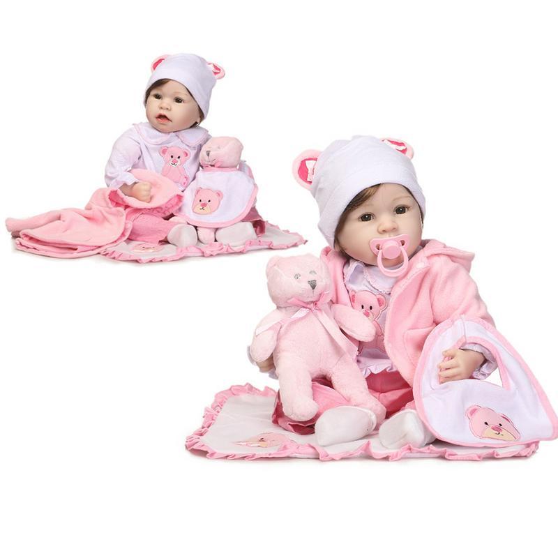 55 Cm belle bébé poupées bébé Simulation poupée enfants jouets réalistes enfant éducation précoce meilleurs cadeaux