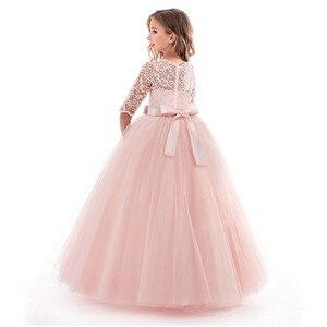 Image 2 - Güzellik Emily O Boyun Yarım Kollu Çiçek Kız Elbisesi 2019 Prenses Balo Dantel Gelinlik Modelleri Çok Renkler Mevcut