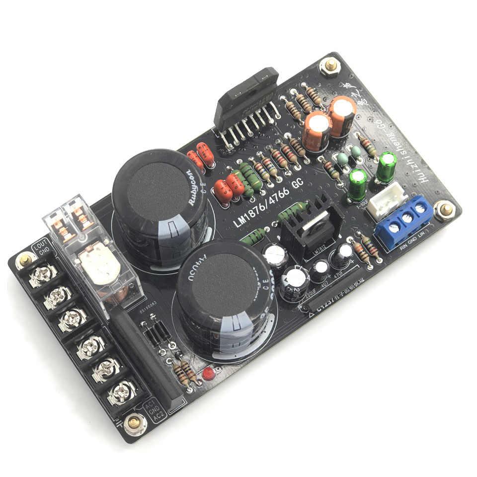 Placa dupla do amplificador do canal 60 w da placa audio do amplificador de lusya lm1876 digitas para o orador 4-8 ohm