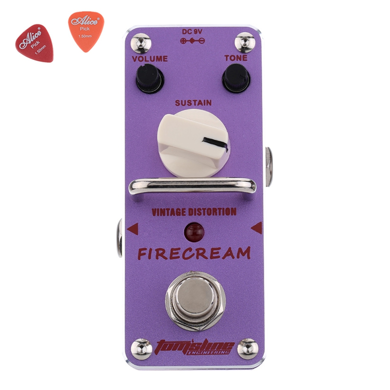 Aroma AFM-3 FIRECREAM Guitar Effect Pedal Mini Analogue Pedals With True Bypass Aluminium Alloy aov 3 ocean verb digital reverb electric guitar effect pedal aroma mini digital pedals with true bypass guitar parts