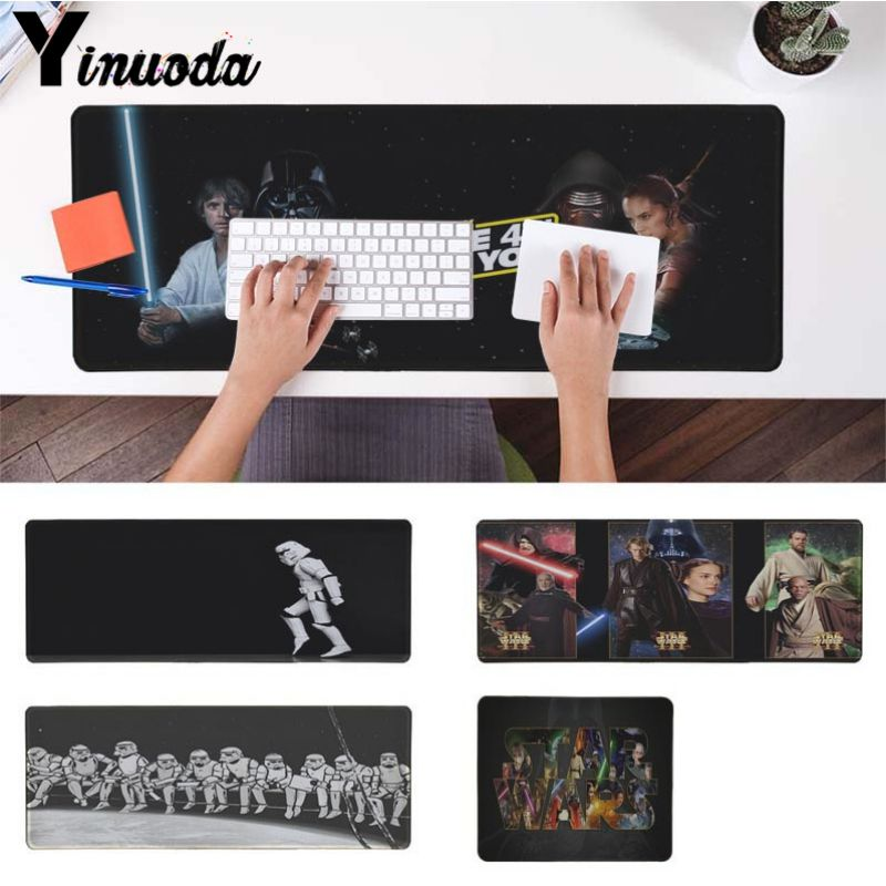 Yinuoda Boy Gift Pad StarWars All Characters Funny Large Mouse pad PC Computer mat Good quality Locking Edge large Game MousePad image