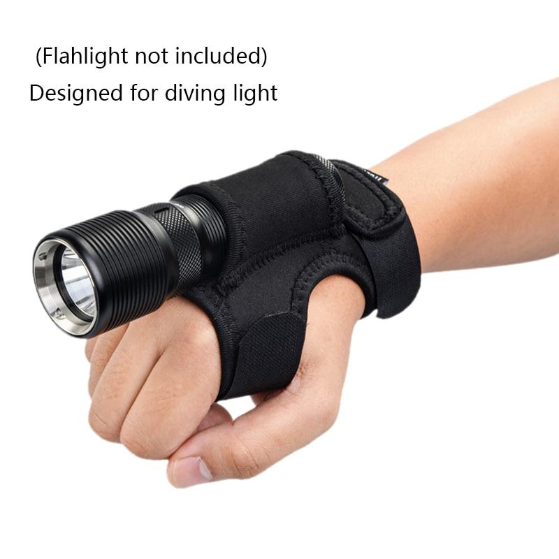 Fishing Gloves Hands-Free Illuminator Flashlight Holster On Wrist Or Portable Arm Holder Fishing Diving Flashlight Hunting