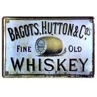 Винтажная металлическая вывеска Bagots, Оловянная вывеска для старого виски, декор стен, для домашнего кафе-бара, смешанный заказ, 20*30 см, A-37