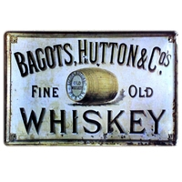 [Mike86] Bagots изящный оловянный знак старого виски художественный Настенный декор домашний кафе-бар винтажный металлический налет A-37 смешанный...