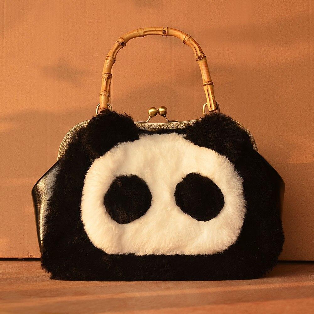 Princess sweet lolita bag Original cute super Quadratic element Plush panda bamboo handbag oblique spanning bag women CC0100 class numbers quadratic and cyclotomic fields