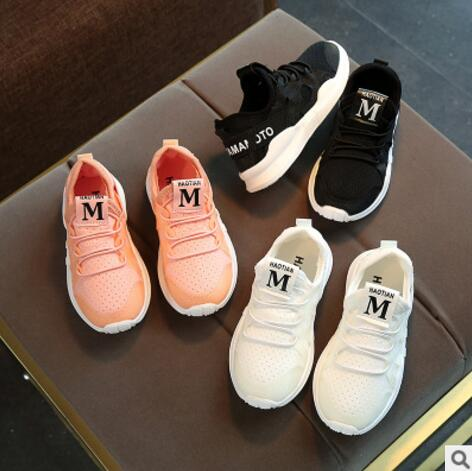 Kids Sport Shoes Male Female Small White Running Shoes Soft Outsole Child Casual Martin Boots Breathable Network Baby Sneakers